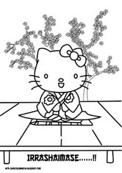 hello kitty kimono coloring page japanese hello kitty all free coloring page for kids
