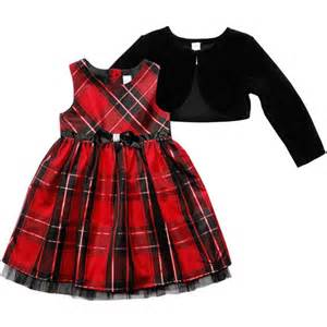 Baby toddler girl taffeta holiday dress with shrug baby amp toddler