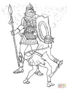 david and goliath coloring page david and goliath fight coloring coloring