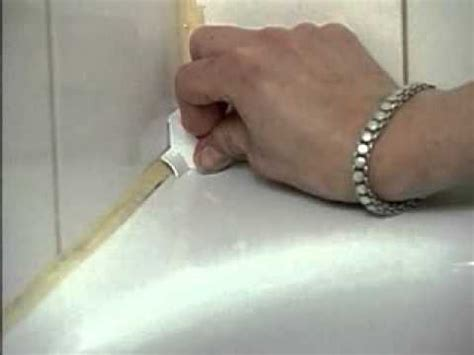 sealing a bathtub tub wall seal a crack adhesive sealer installation youtube