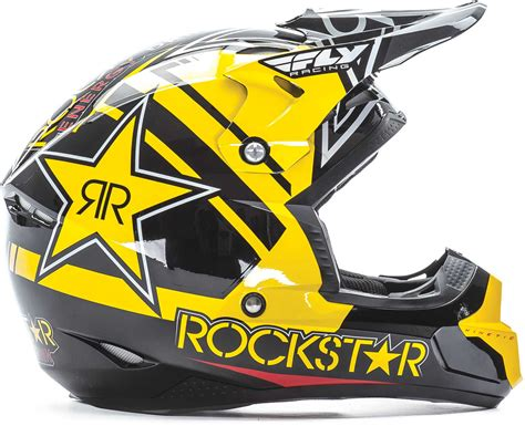pro motocross racing fly racing kinetic pro rockstar helmet 2017 mx atv