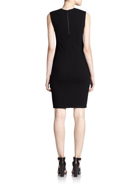 ponte knit dress lyst vince ponte knit sheath dress in black