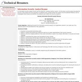 Information Security Analyst Sle Resume by Electronic Resume Playbestonlinegames