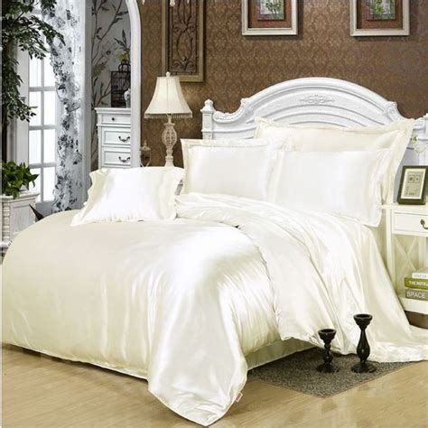 solid cream comforter solid white black gold gray satin duvet cover twin queen