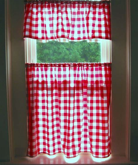 red gingham kitchen curtains 11 best images about kitchen curtains on pinterest image