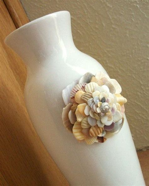 Vases With Seashells by Seashell Flower Vase House Decor