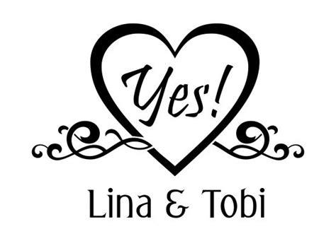 Tattoo Aufkleber Personalisiert by Autoaufkleber Hochzeit Yes Mit Namen
