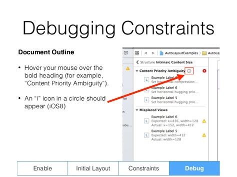 xcode debug layout constraints adjusting to auto layout tutorial tips for ios auto layout