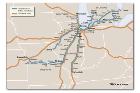 missouri amtrak map new locomotives will cut amtrak travel time from chicago
