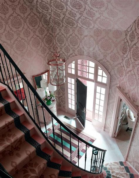 cool wallpaper entryway cool vintage decorating ideas