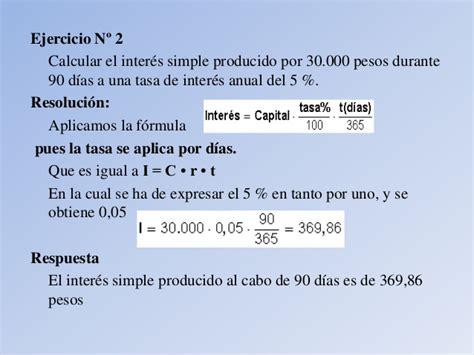 formula para calcular los intereses de cesantias inter 233 s simple