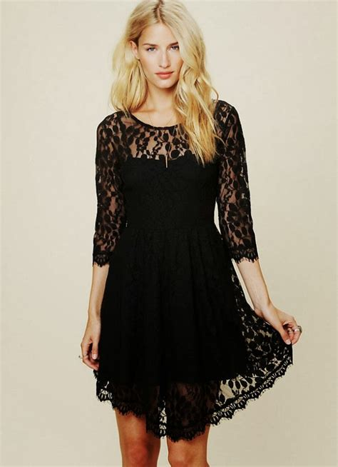 Galerry black lace dress