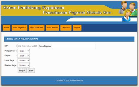 desain database sistem pendukung keputusan download sistem pendukung keputusan berbasis web metode saw