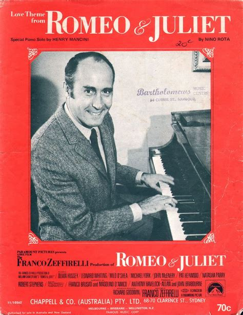 theme song romeo and juliet 1968 46 best images about song sheets 1970 s on pinterest