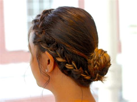 how to put braids into a bun how to make an easy side braid into a bun snapguide