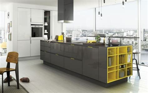 yellow and grey kitchen ideas 17 sleek grey kitchen ideas modern interior design