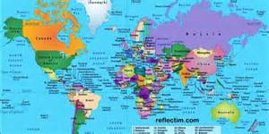 world map of map of world and countries 187 travel