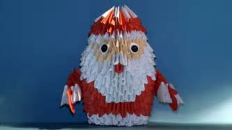 3d Origami Santa - 3d origami santa claus tutorial my crafts and