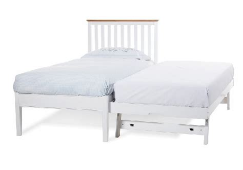Serene Grace 3ft Single White Wooden Guest Bed Frame With White Low Bed Frame