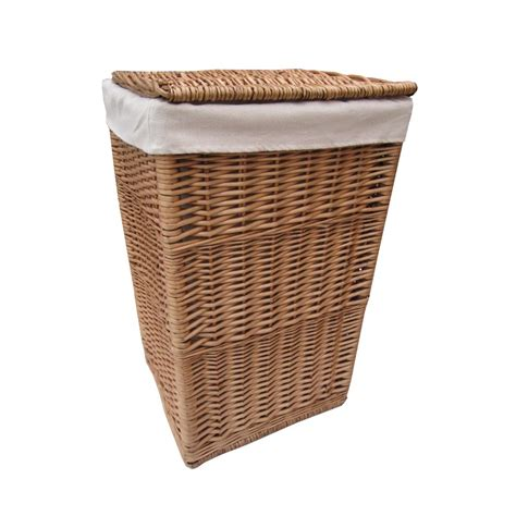 Laundry Basket | buy square natural wicker laundry basket from the basket