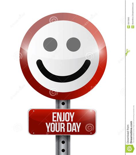 Coffee Cup Design by Enjoy Your Day Road Sign Illustration Design Royalty Free