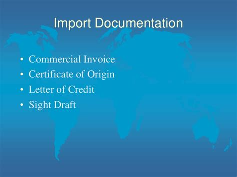 Import Letter Of Credit At Sight Class 2 For Starting An Import Export Business