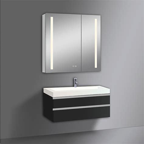 spiegelschrank uhr led spiegelschrank aluminio sun mit beleuchtung b x h
