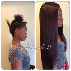 hair do with sew in weave with a part in the middle flawless sew in hair weaves by natalie b natalie