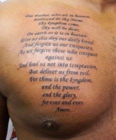 lords prayer tattoo the prayer tatttoo tattoos