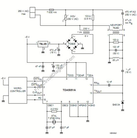 modem circuit diagram power line modem circuit for home automation application