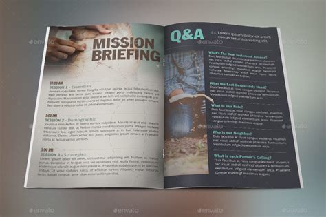 missions conference brochure template by godserv