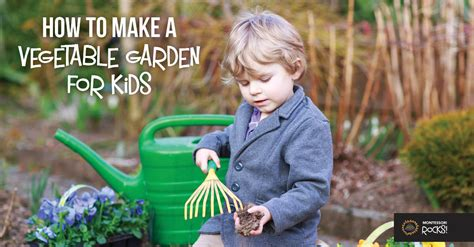 how to make a vegetable garden for montessori rocks