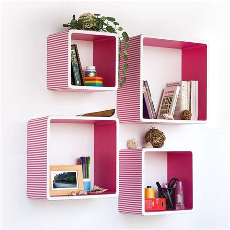Pink Shelf by Trista Pink Square Leather Wall Shelf