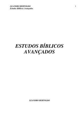 Estudos Bíblicos Avançados by TV Novo Tempo - Issuu