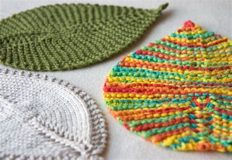 washcloth knitting patterns leafy wash cloth knitting and crochet