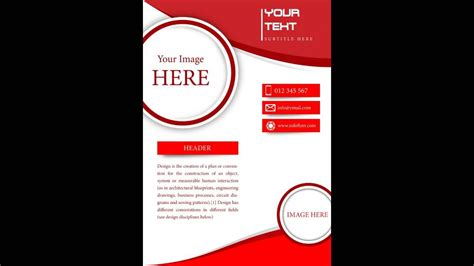 design flyer with photoshop how to design a flyer in photoshop youtube