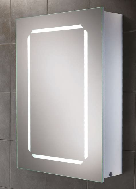 bathroom mirrored cabinets with lights hib cosmic steam free led back lit aluminium mirrored