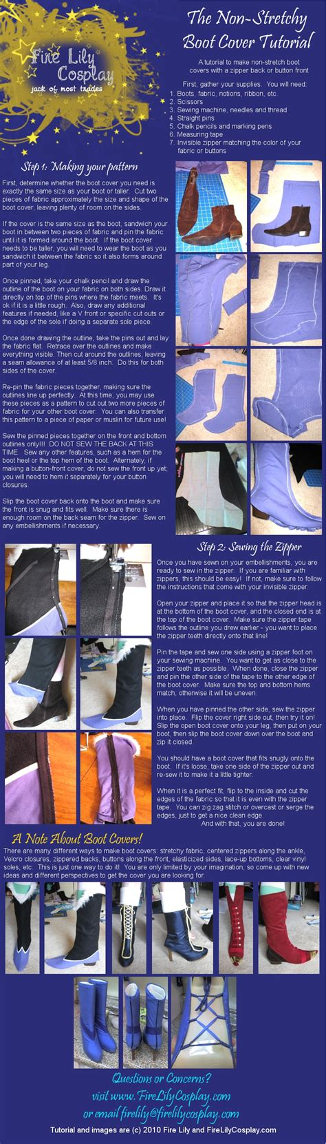 play it can buy me a boat no stretch boot cover tutorial by firelilycosplay on