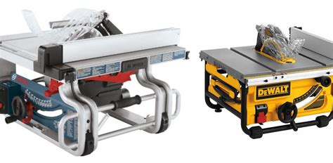 dewalt table saw comparison bosch gts1031 vs dewalt dwe7480 comparison woodworking