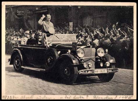 Hitler Auto by Postcard Adolf Hitler Im Fahrenden Auto Jubelnde Menge