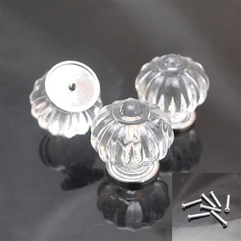 Acrylic Door Knob by 5 10set 30mm Clear Acrylic Sparkle Cabinet Drawer Door