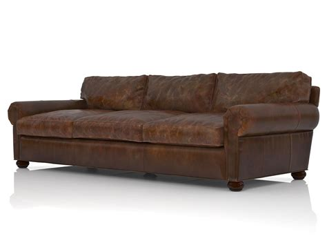leather sofa restoration hardware 96 quot lancaster leather sofa 3d model restoration hardware