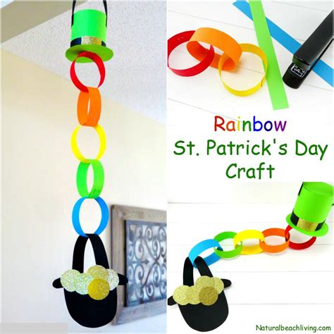 st s day and crafts rainbow pot of gold craft idea for st s day living