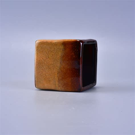 Candle Handmade - handmade square ceramic container for candles