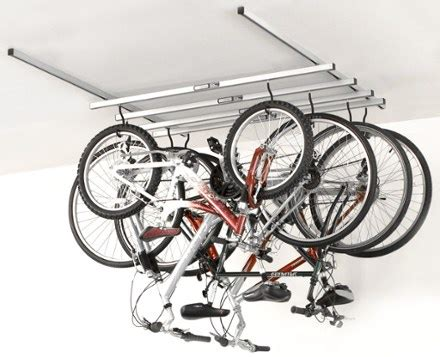 bike ceiling mount saris cycleglide 4 bike ceiling mount storage rack rei