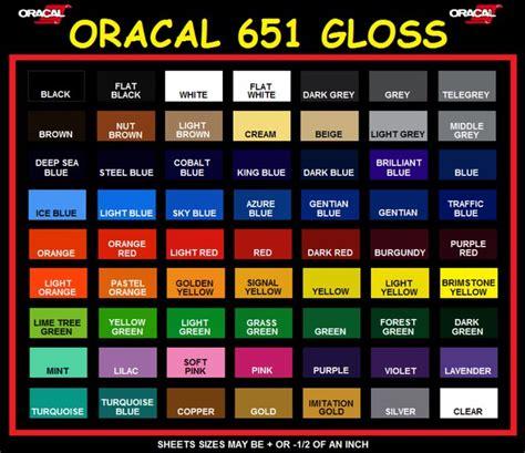 oracal vinyl color chart oracal outdoor vinyl color chart cut knk zing klic n kut