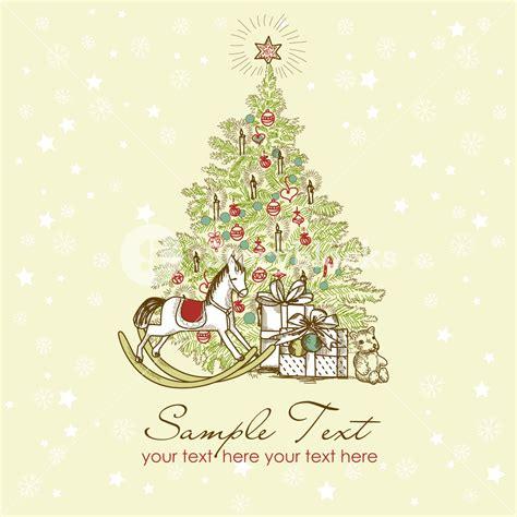 vintage christmas card beautiful christmas tree