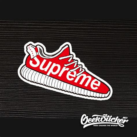 supreme stickers supreme shoes sticker bomb car styling waterproof