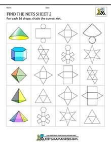surface area nets worksheet worksheets tutsstar