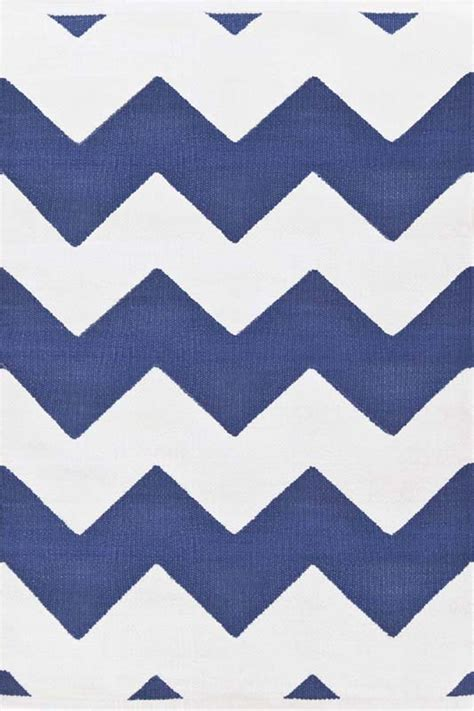 Indoor Outdoor Chevron Rug Chevron Indoor Outdoor Rug In Denim And White By Dash Albert